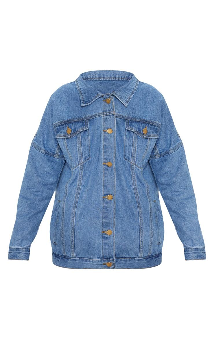 Mid Wash Oversized Denim Jacket  3