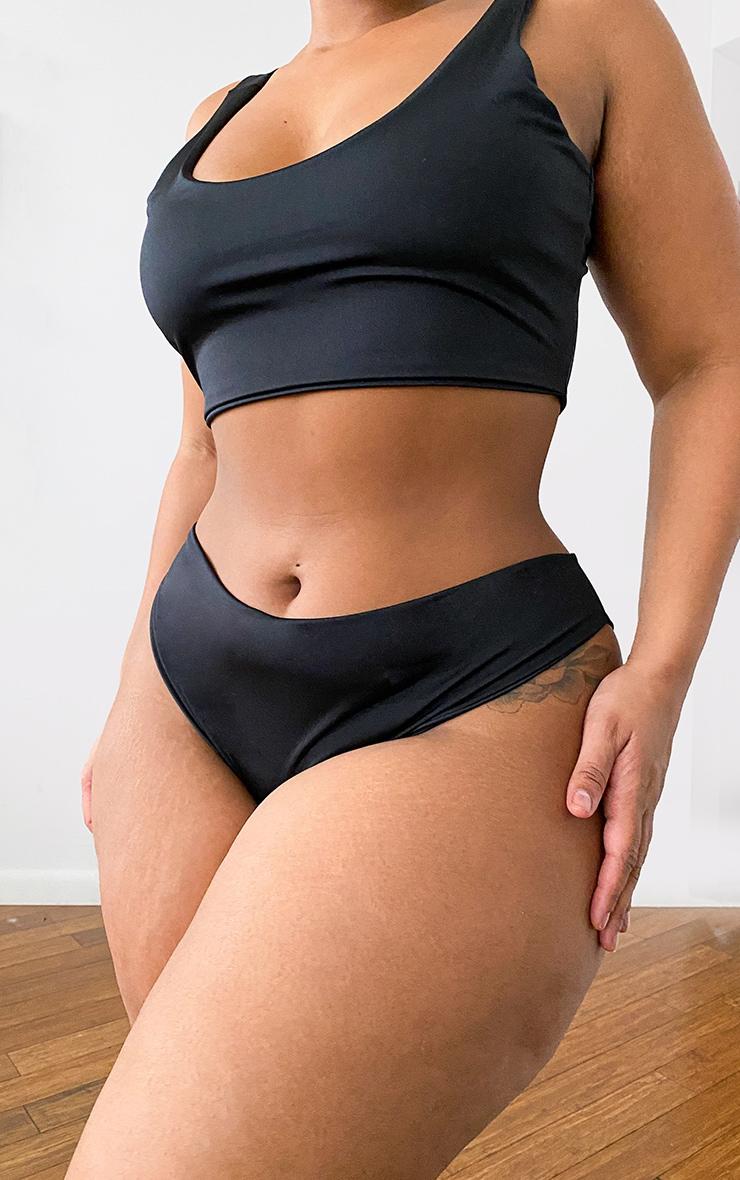 Plus Black Mix & Match Cheeky Bum Bikini Bottoms 1