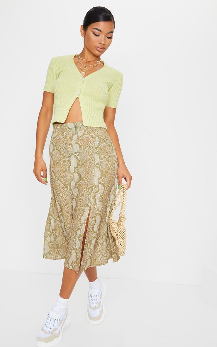 Stone Snake Floaty Midi Skirt 1