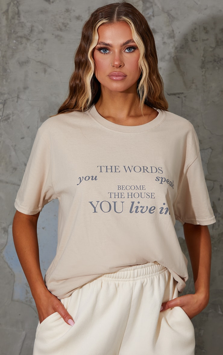 Sand Words You Speak Printed T Shirt 1