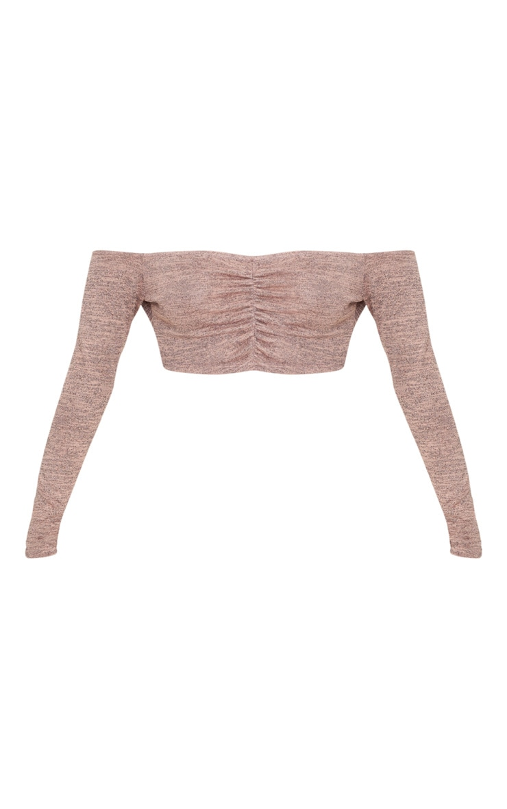 Pink Ruched Front Knit Top 3