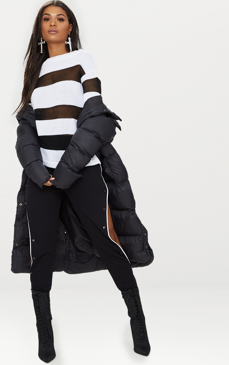 Black Sheer Stripe Jumper 4