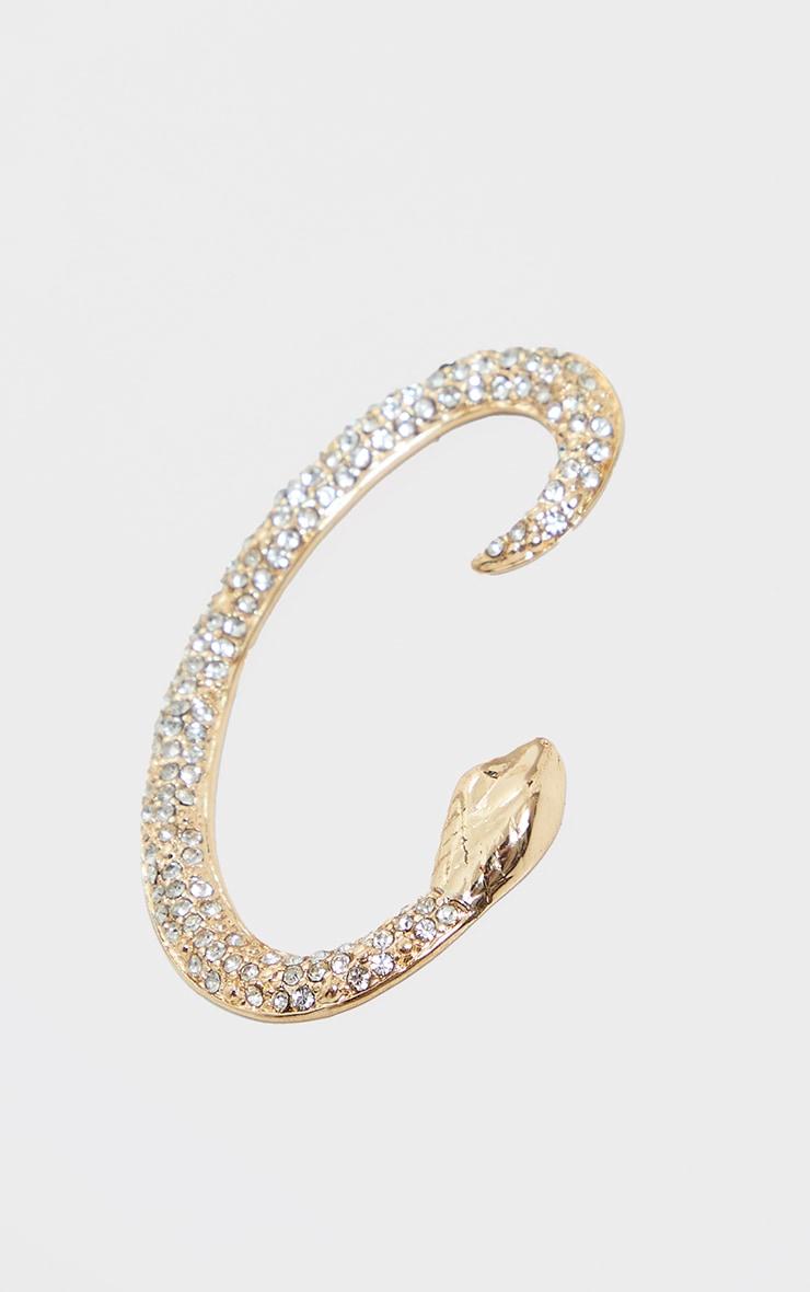 Gold Diamante Snake Ear Cuff 2