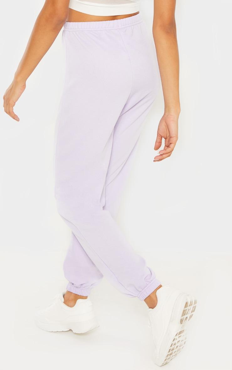 Lilac Basic Cuffed Hem Track Pants 3