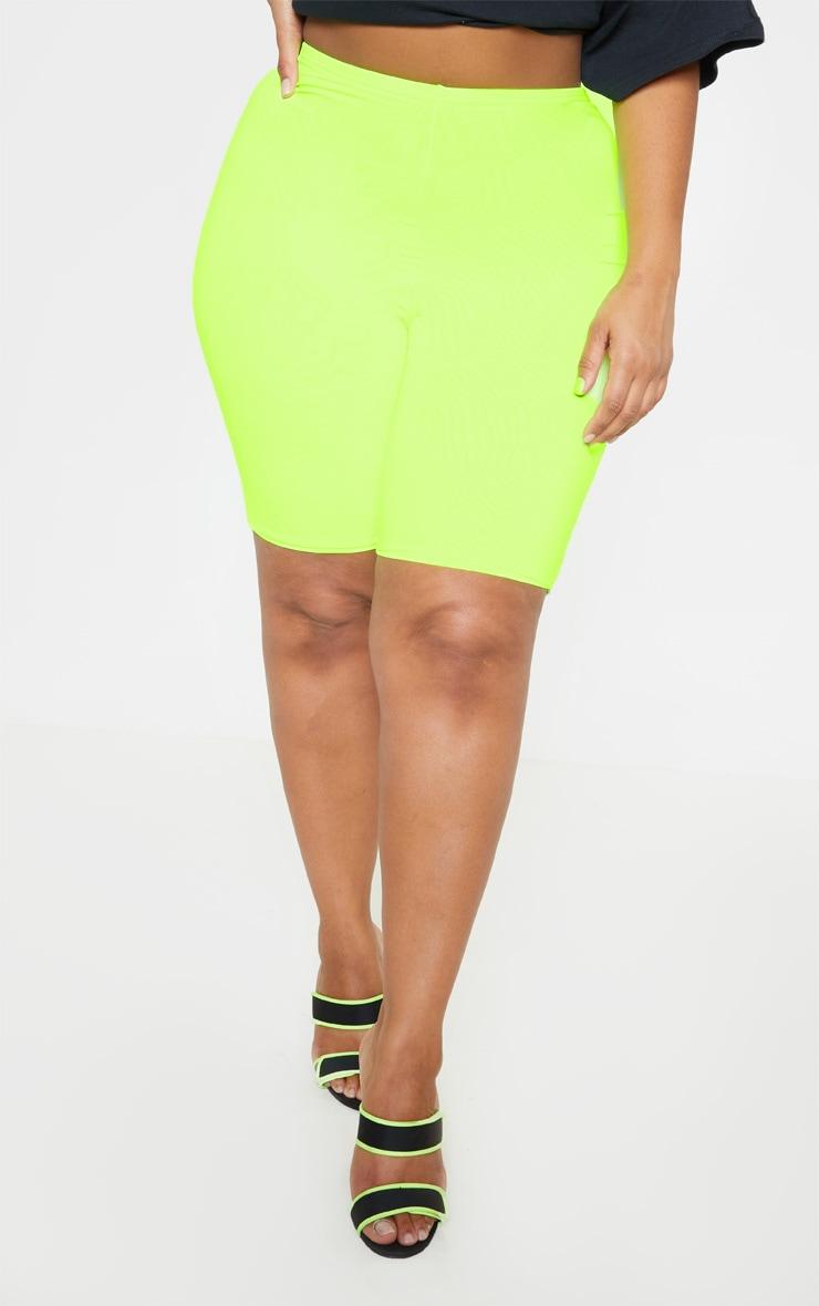 Plus Neon Lime Bike Shorts 3