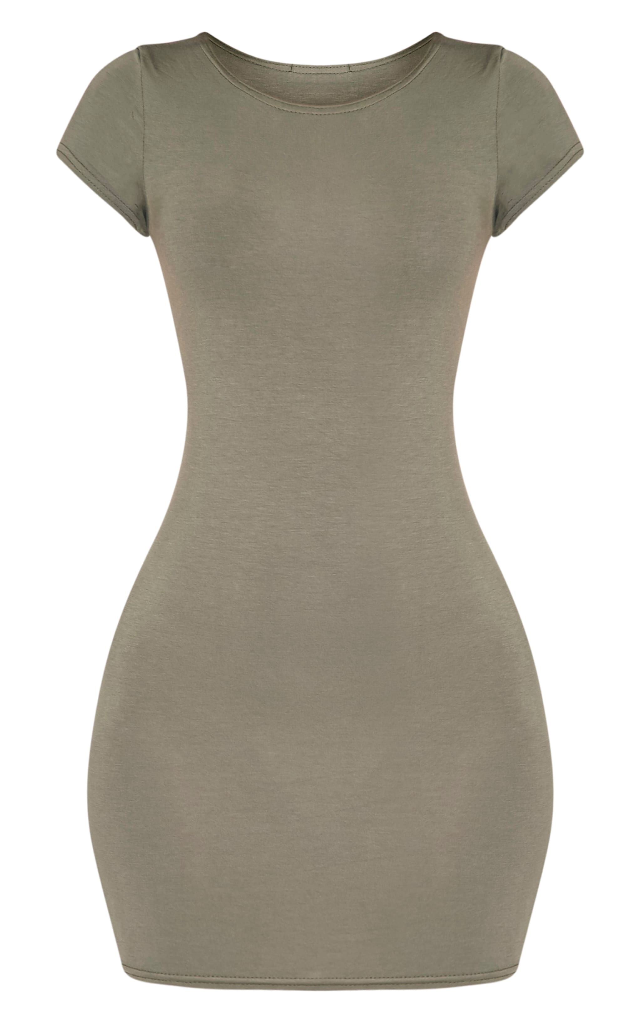 Basic Khaki Jersey Dress 3