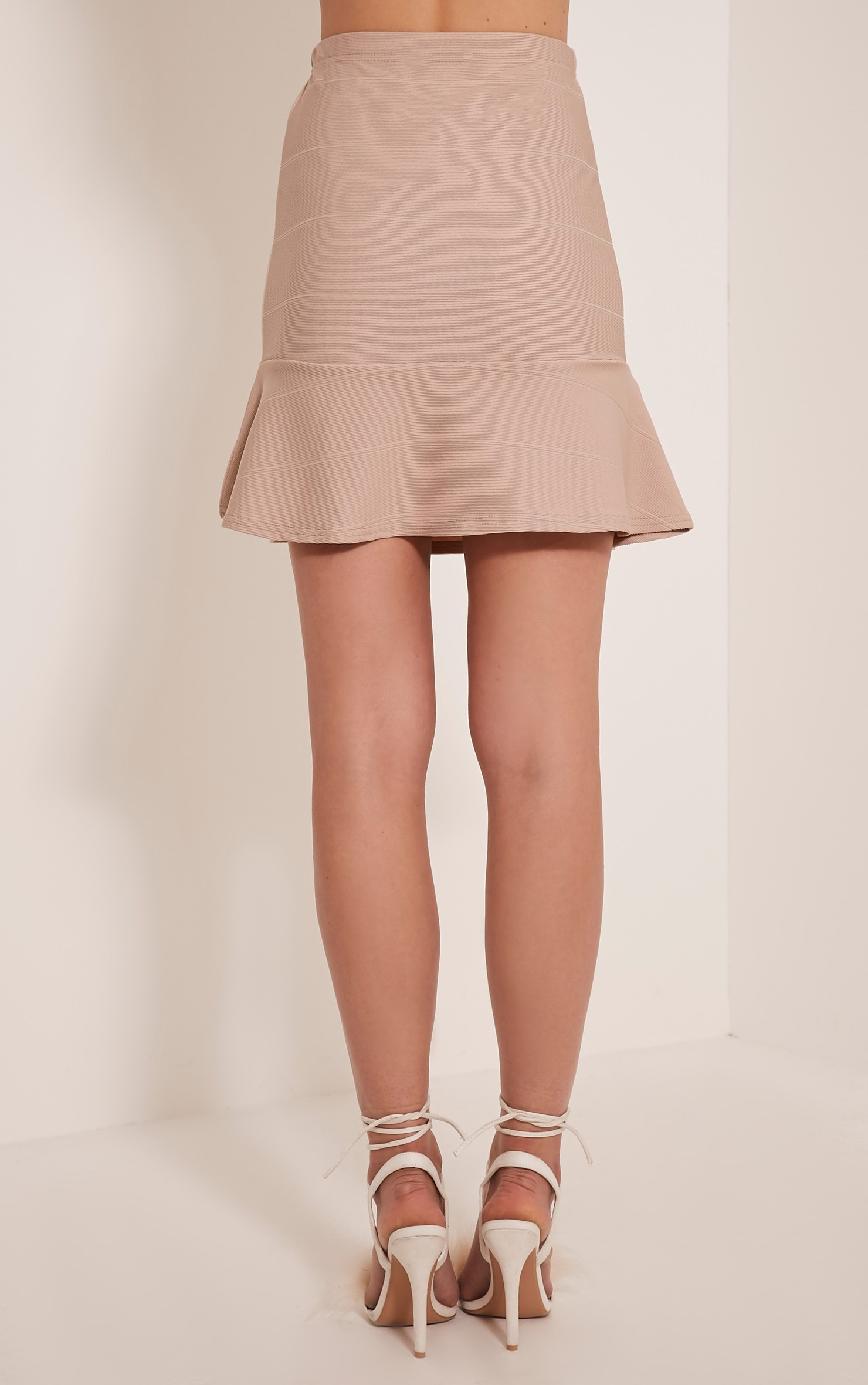 Addy Stone Bandage Flippy Hem Mini Skirt 4