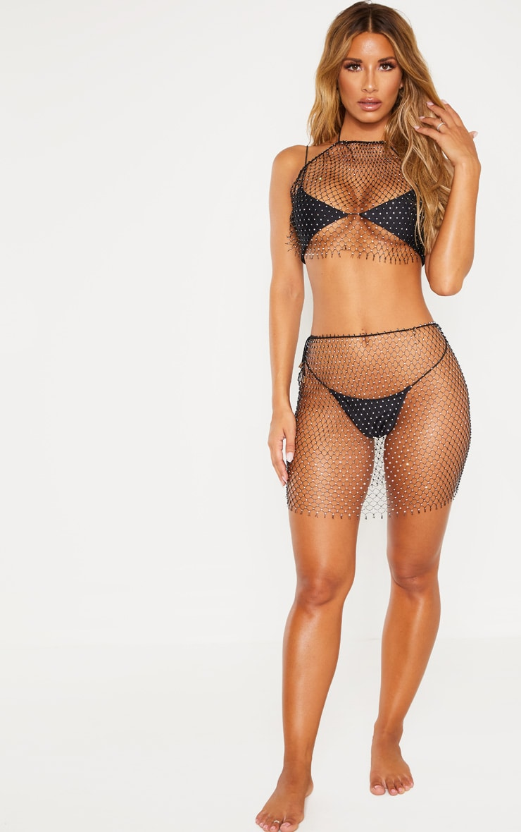 Black Diamante Net Skirt Body Jewellery 5