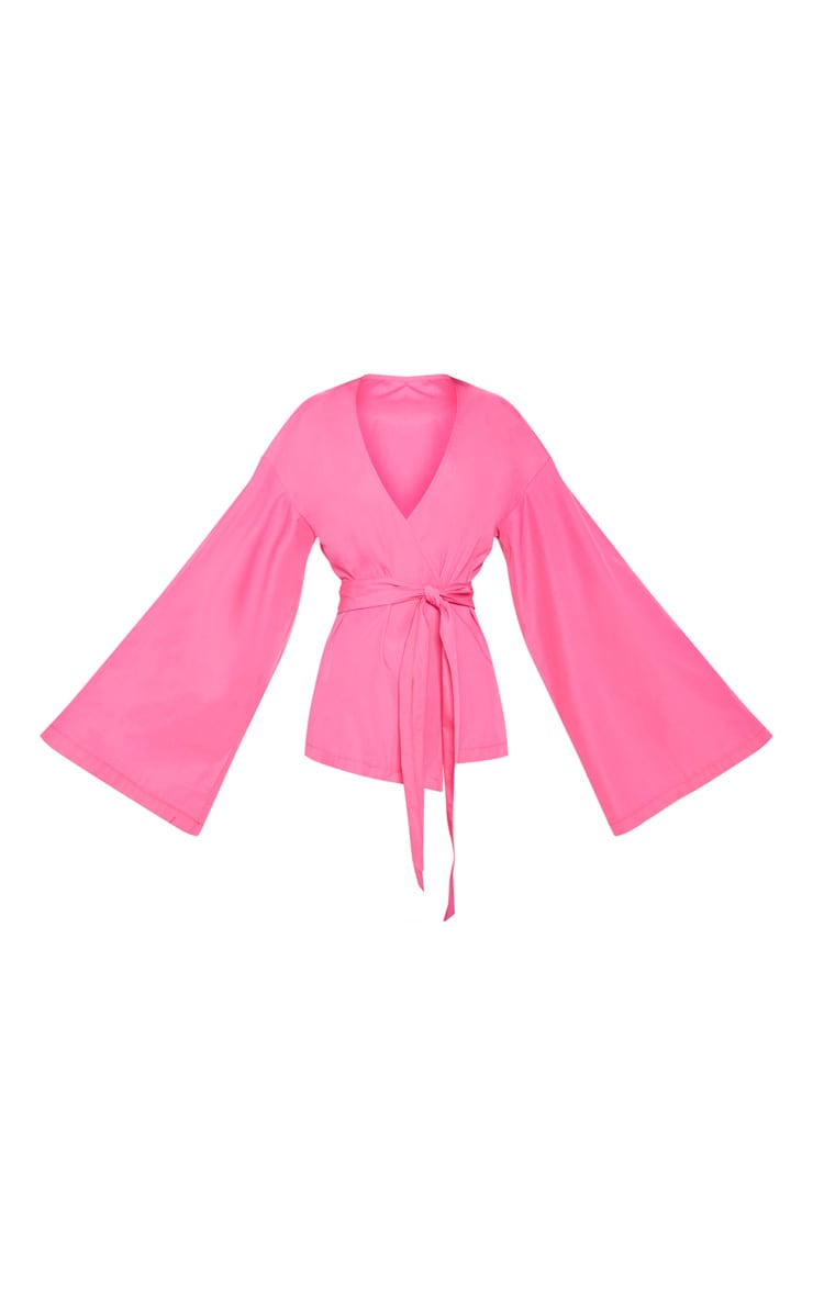 Pink Woven Belted Shirt 3