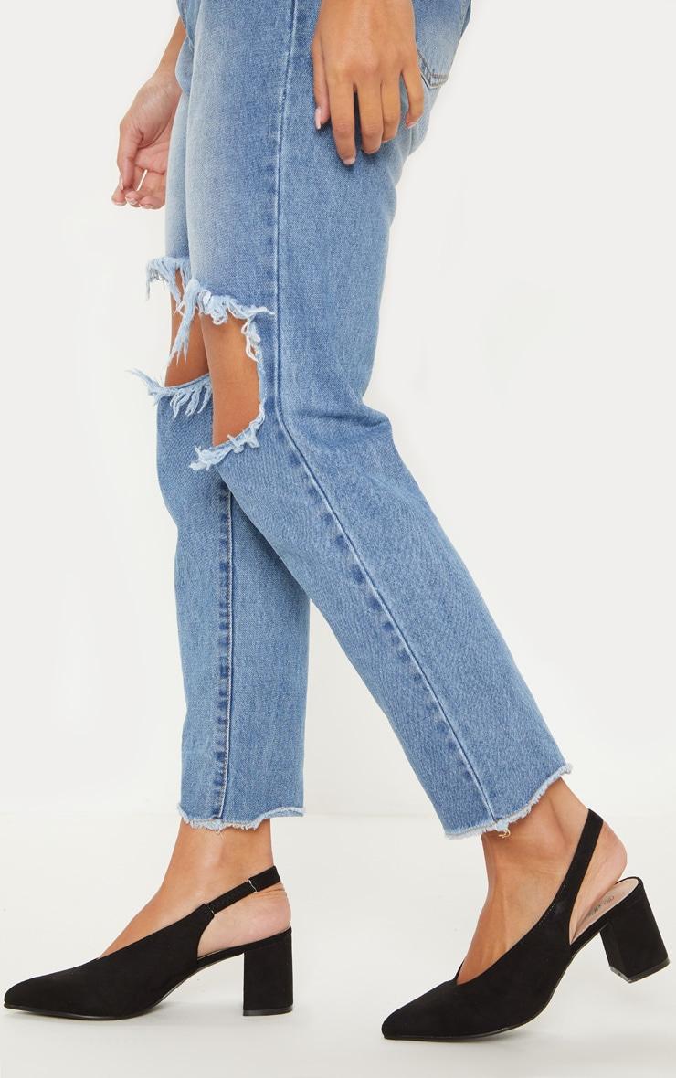 fff01bbc8aa Black Sling Back Block Heel Court | Shoes | PrettyLittleThing AUS