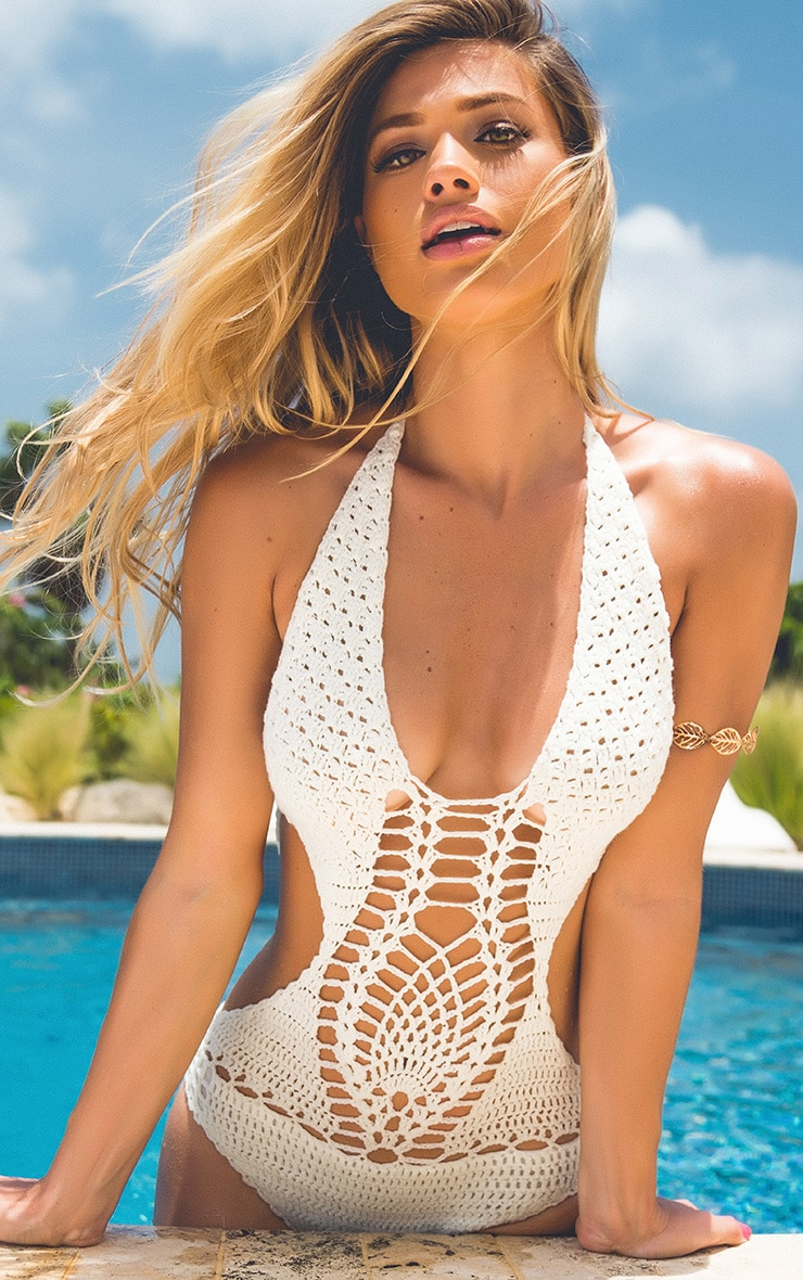 Aryah maillot de bain crocheté crème 1