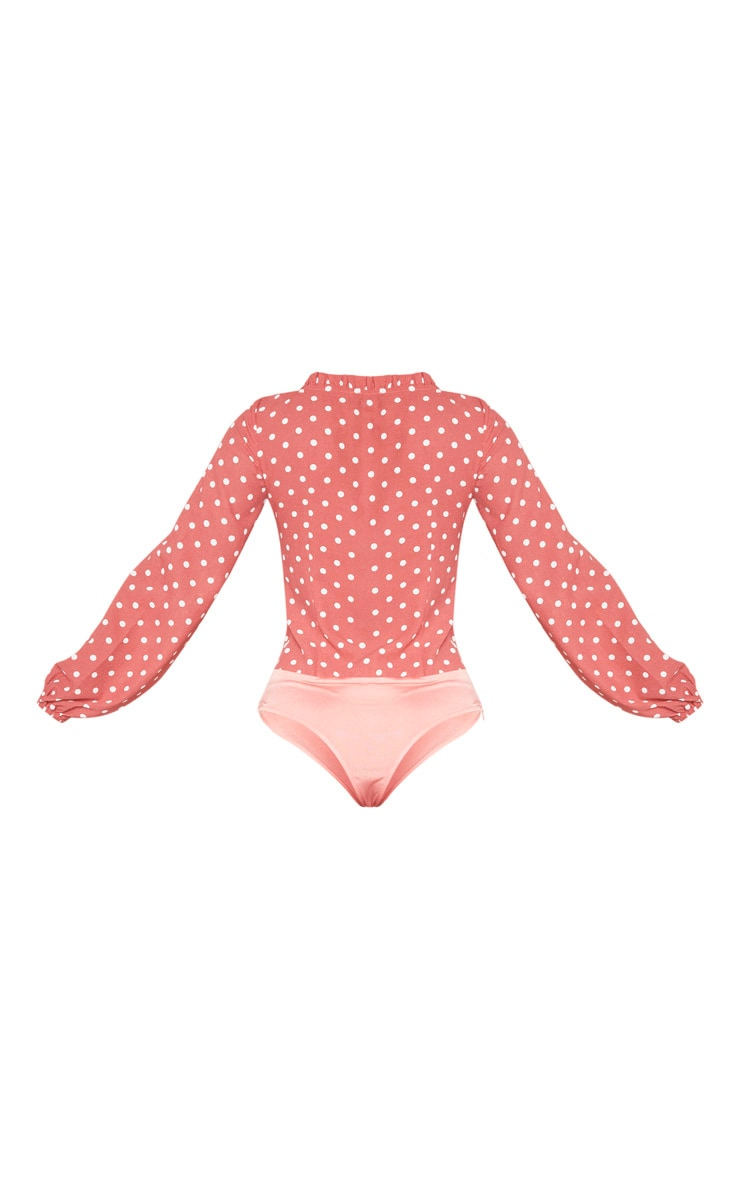Pink Polka Dot Milkmaid Frill Cup Bodysuit 6