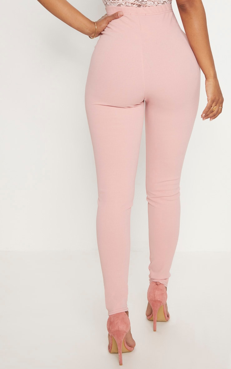 Shape Dusty Pink Military Button Skinny Trousers 4