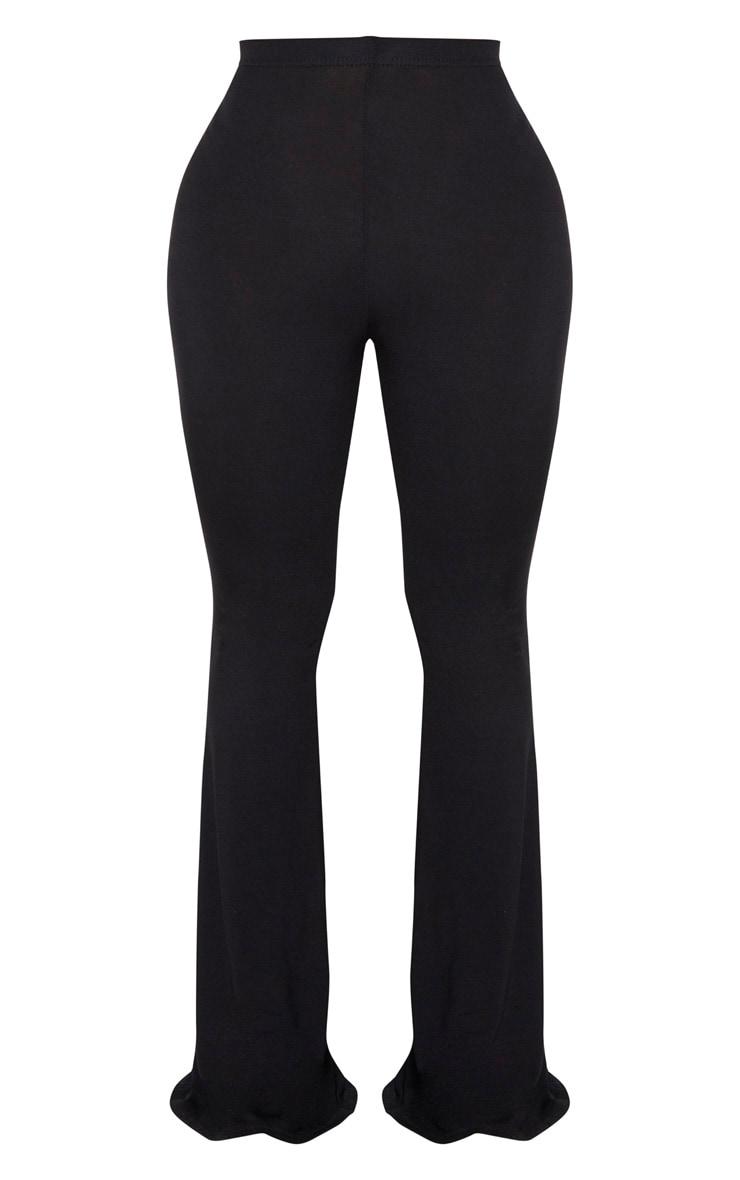 Shape - Pantalon flare en jersey noir à taille haute 5