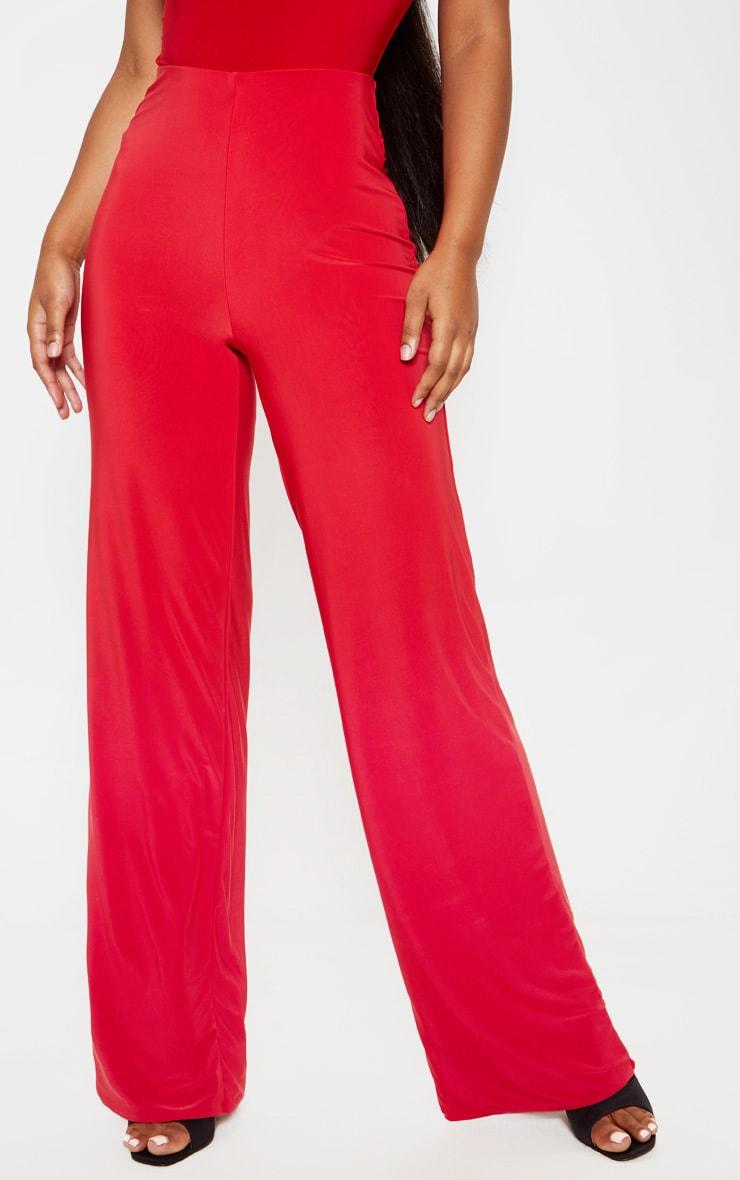 Pantalon ample slinky rouge intense 2