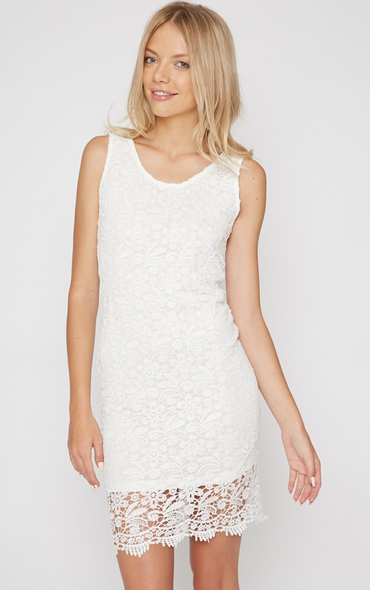 Kalea White Crochet Lace Dress 1