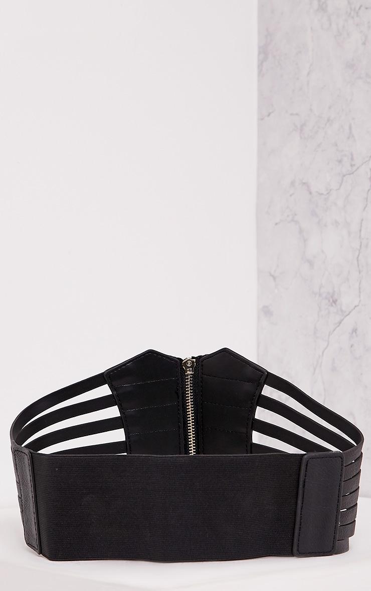 Nikola ceinture corset noire à fermeture éclair  4