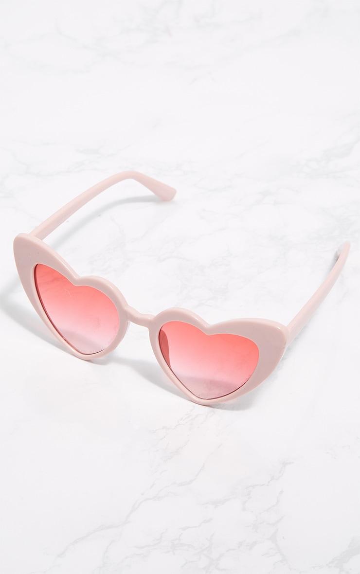 Pink Heart Shape Sunglasses 3
