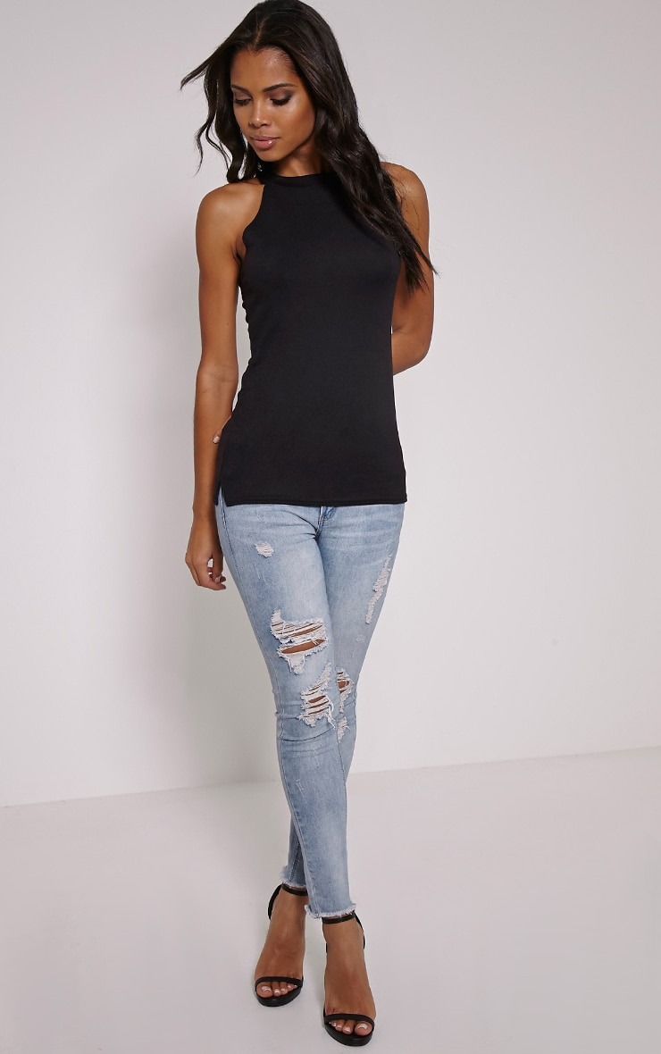 Kate Black Racer Knitted Top 3