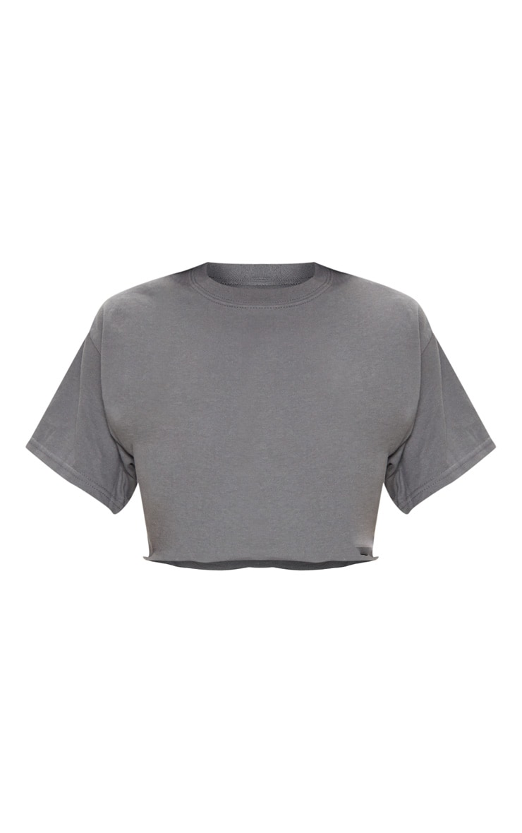 Charcoal Ultimate Oversized Crop T Shirt 3