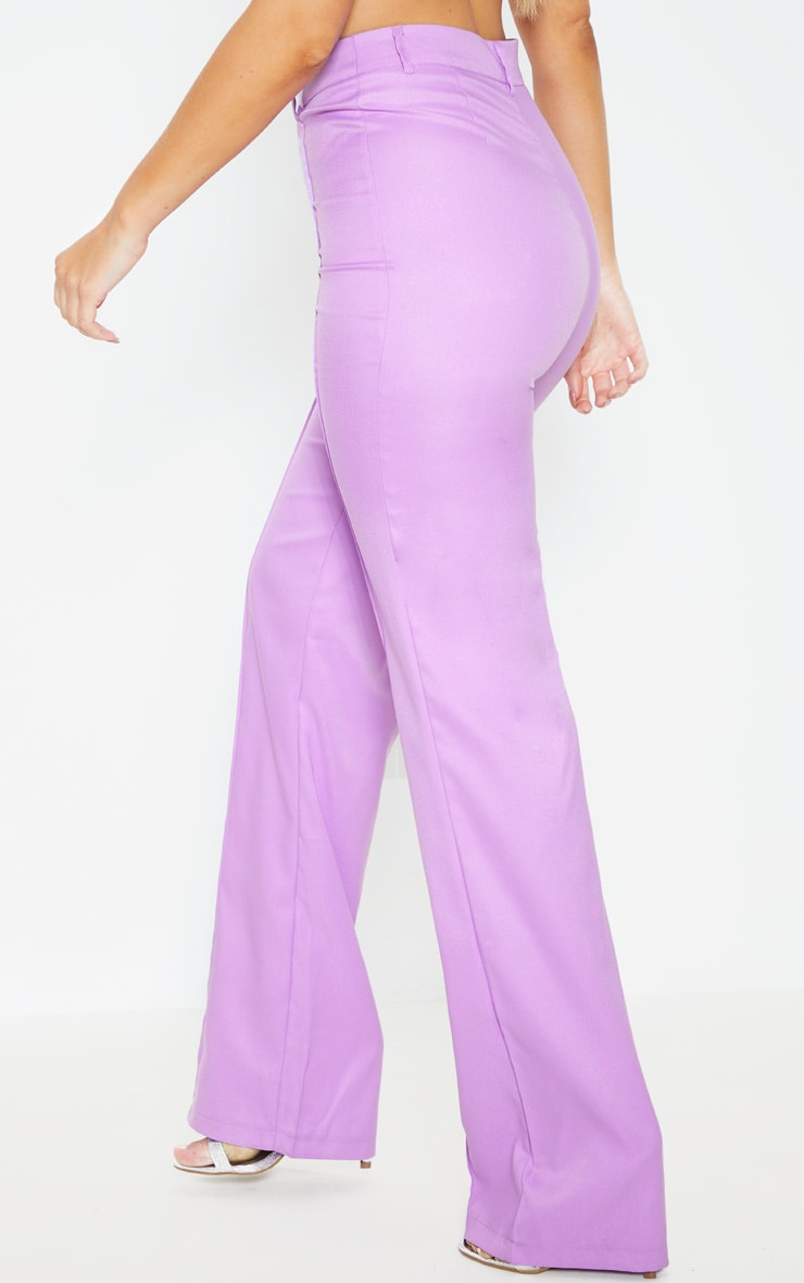 Anala Lilac High Waisted Straight Leg Trousers 4