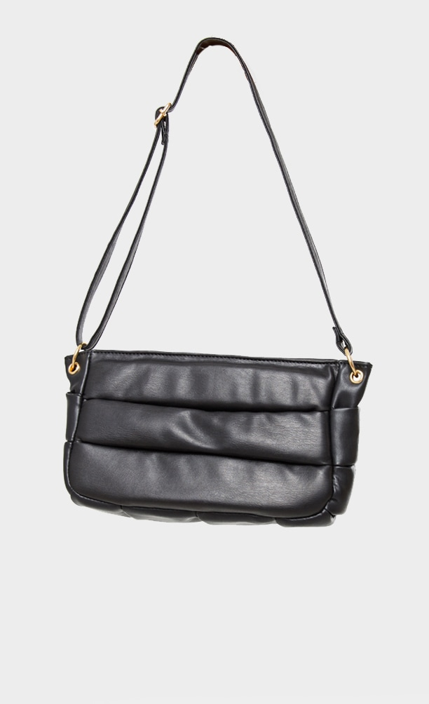 Black Padded Shoulder Bag 2