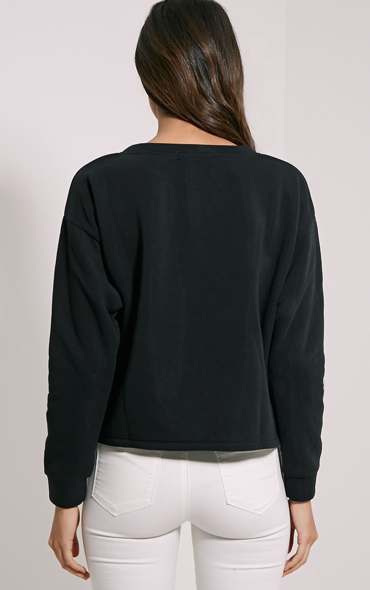 Kiera Black Lace Up Side Sweatshirt 2