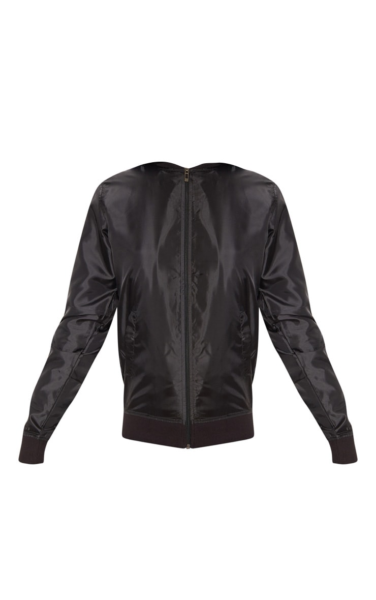 Black Lightweight Bomber Jacket 3