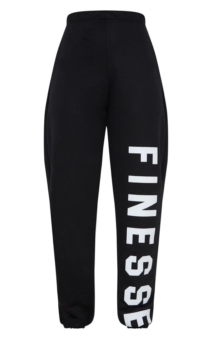 Black Finesse Slogan Jogger 3