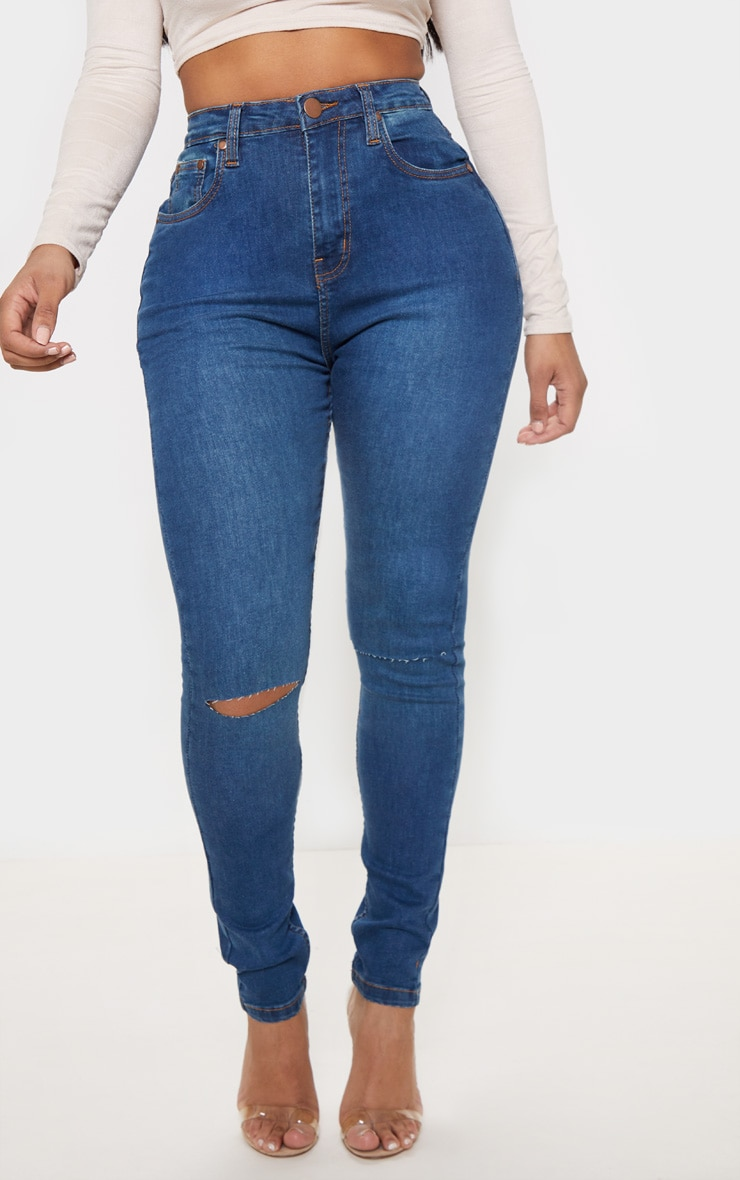 Shape Mid Wash Knee Rip Boyfriend Jean 3