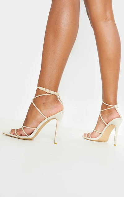 Nude Strappy Point Toe Sandal