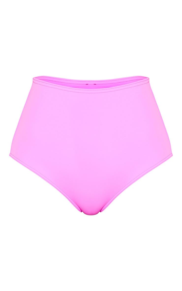 Magenta High Waisted High Leg Bikini Bottom 6