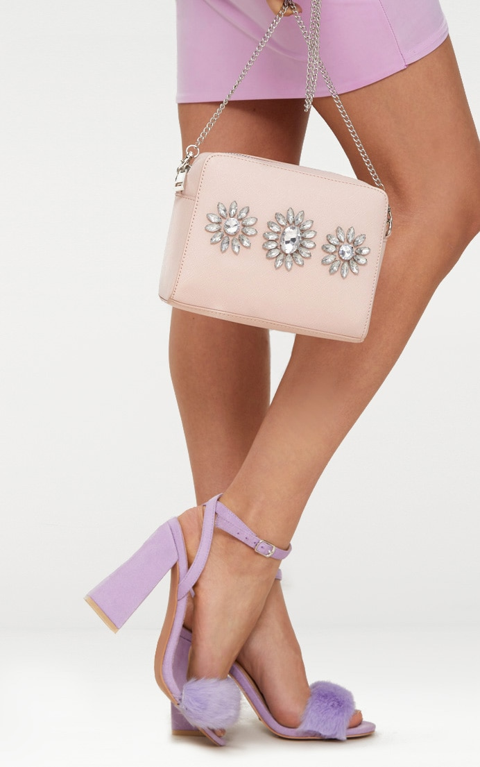 Nude Jewel Detail Shoulder Bag 2