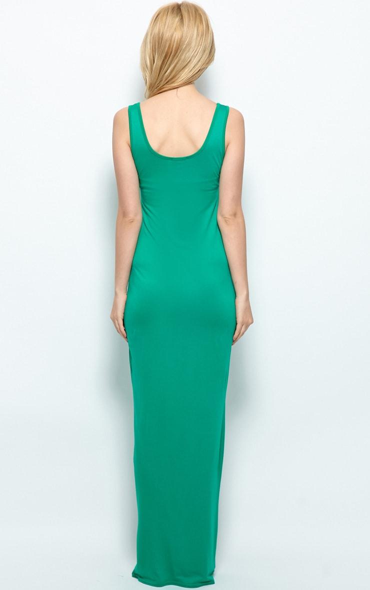 Zoe Green Jersey Maxi Dress 2
