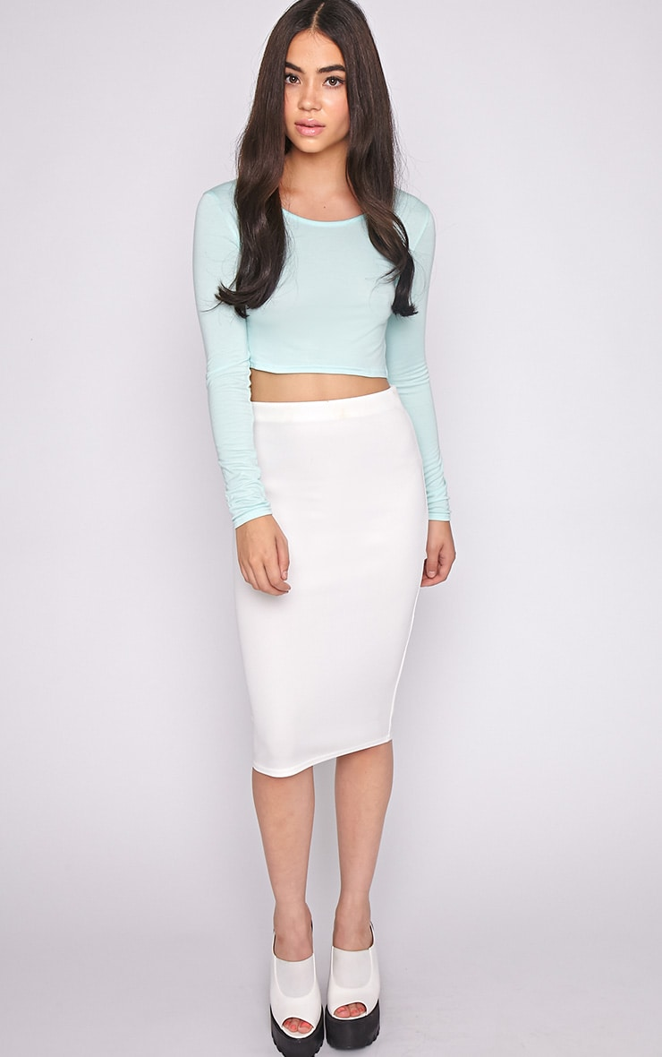 Suzy Mint Long Sleeved Crop Top 3