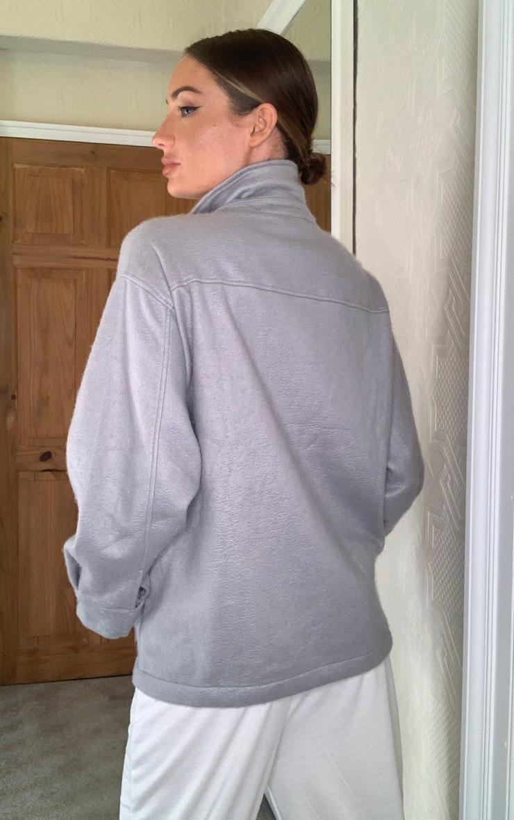 Grey Pocket Front Shacket 2