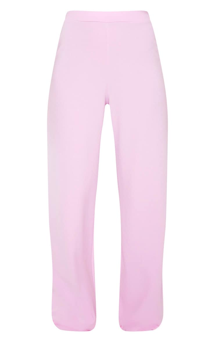 Pastel Lilac High Waisted Wide Leg Trouser 2
