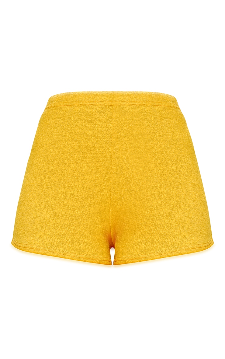 Mustard High Waisted Co-ord Shorts 3