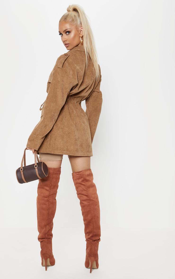 Tan Cord Oversized Jacket  2