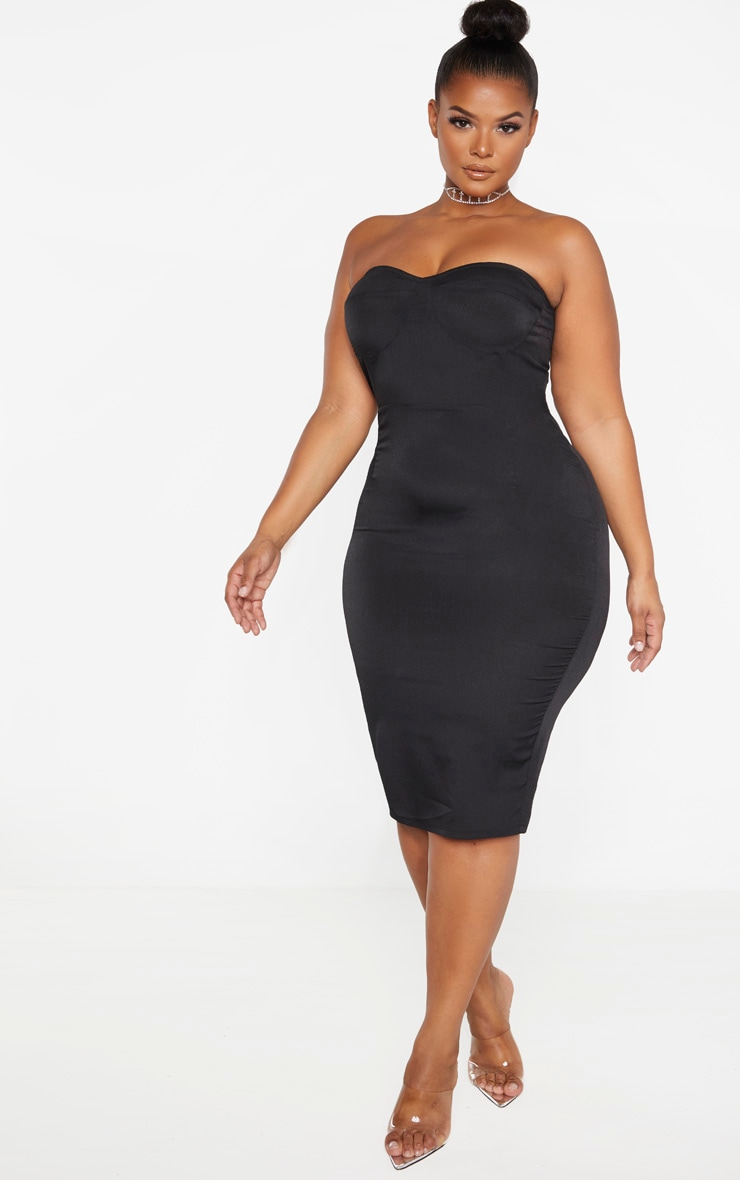 Plus Size Black Corset Dress