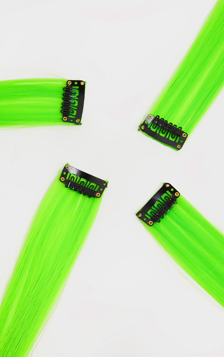 The Gypsy Shrine Easy Tiger Hair Extensions Neon Green 4