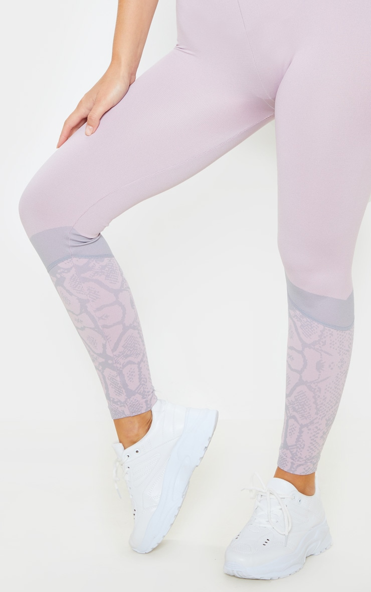 Pink Snake Seamless Sports Legging 5