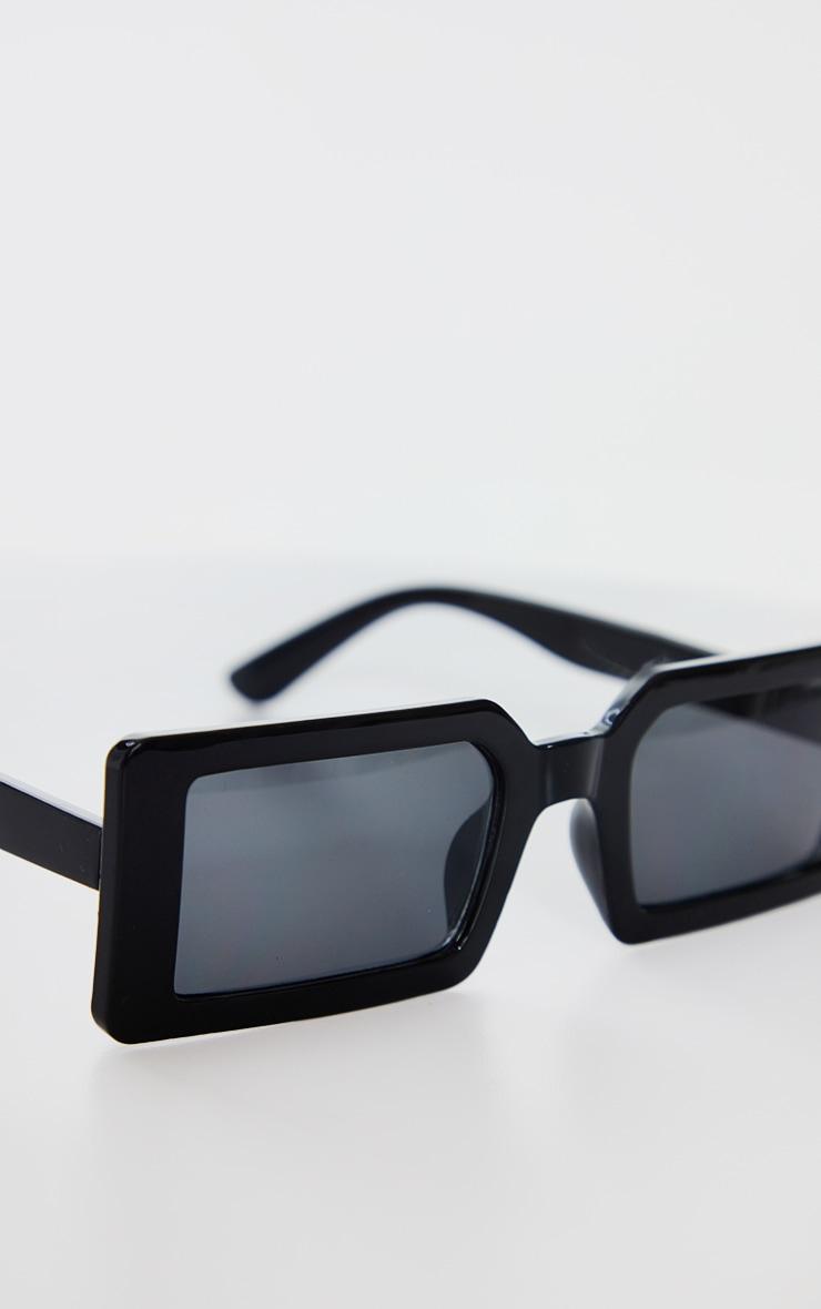 Black Squareframe Slimline Sunglasses 3