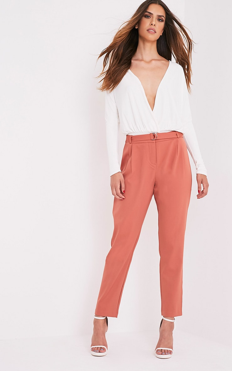 Teena Tobacco D-Ring Belted Trousers 1