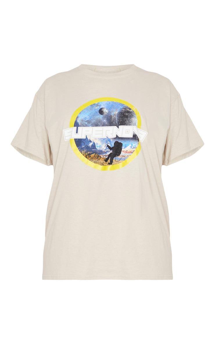 Stone Supernova Print Oversized T Shirt 5