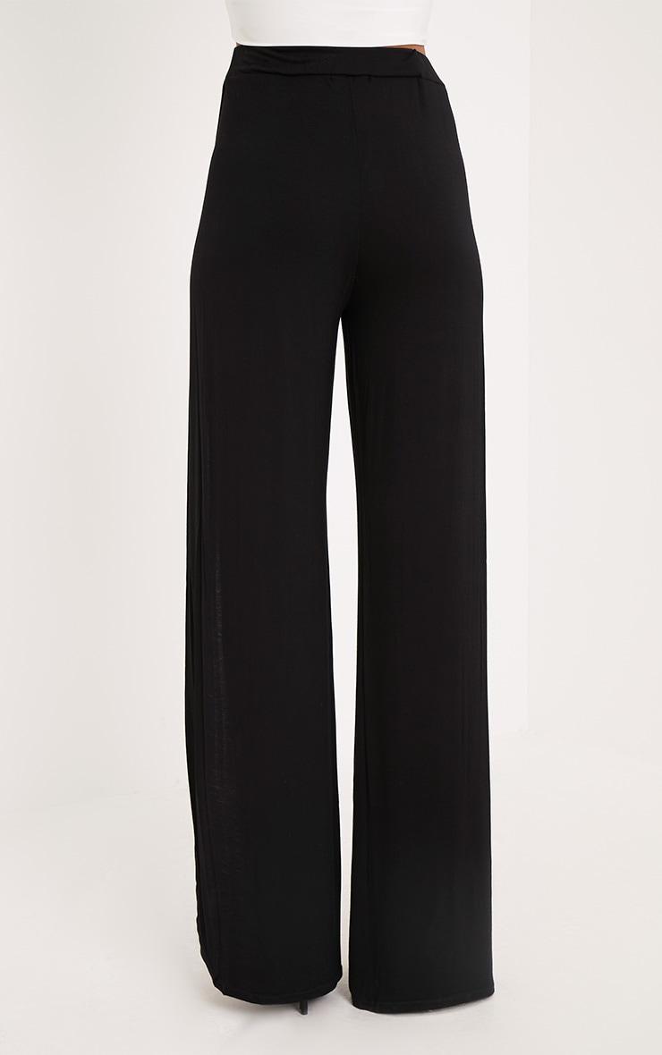 Mona Black Split Jersey Trousers 4