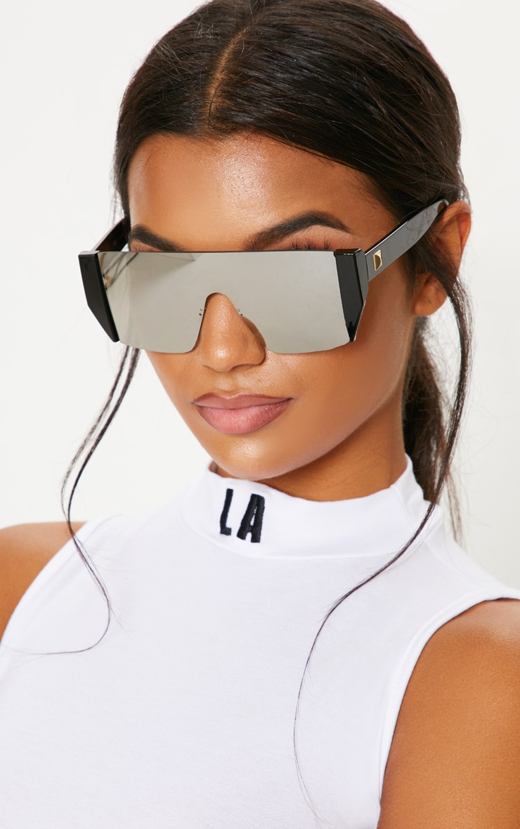 Silver Flat Top Statement Sunglasses 1