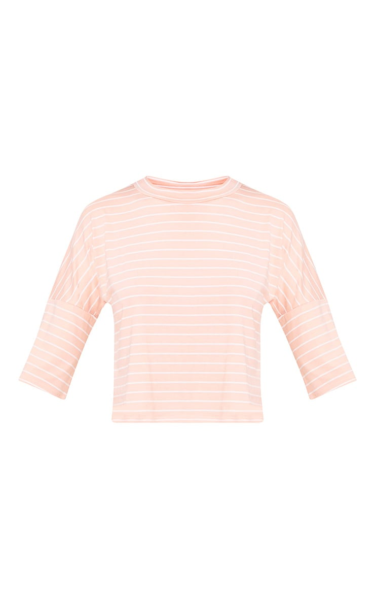 Pink Stripe Oversized T Shirt 3