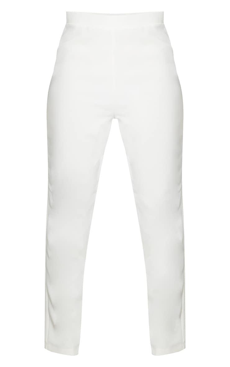 Cream Woven Ankle Grazer Trousers 5