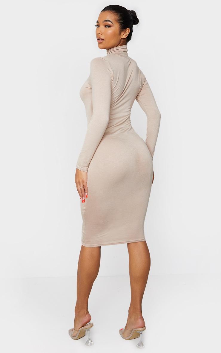 Stone Basic Roll Neck Midi Dress 2